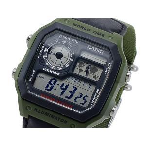 カシオ 腕時計 メンズ CASIO デジタル ブラック/カーキ|vol8