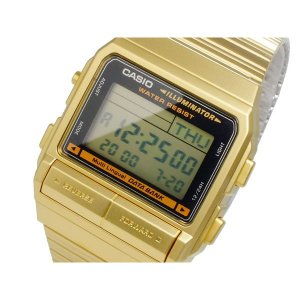 カシオ 腕時計 メンズ データバンク DATA BANK CASIO デジタル ゴールド|vol8