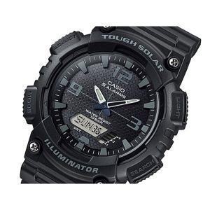 カシオ 腕時計 メンズ スタンダード CASIO ソーラー ブラック/ブラック/アンバー|vol8
