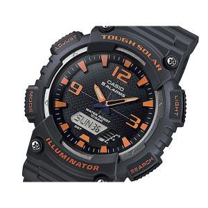 カシオ 腕時計 メンズ スタンダード CASIO ソーラー ブラック/ブラック/オレンジ/アンバー|vol8