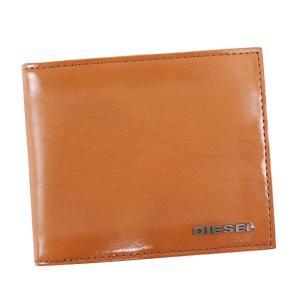 ディーゼル 二つ折り財布 メンズ HIRESH S DIESEL レザー キャメル|vol8