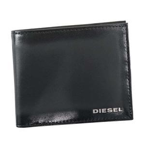 ディーゼル 二つ折り財布 メンズ HIRESH S DIESEL レザー ブラック|vol8