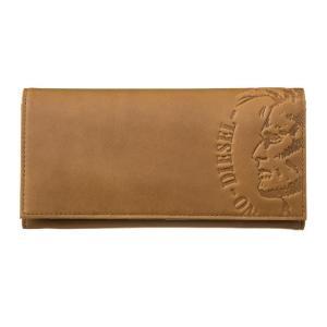 ディーゼル 長財布 ロングウォレット メンズ DIESEL ロゴ型押し Golden Brown vol8
