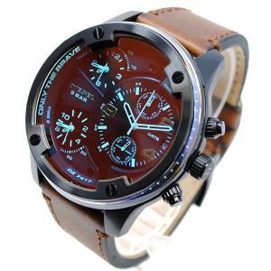 ディーゼル 腕時計 メンズ DIESEL 偏光ガラス レザー アナログ ブラック/ダークブラウン vol8