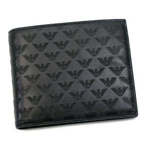 エンポリオアルマーニ 二つ折り財布 メンズ EMPORIO ARMANI ブラック
