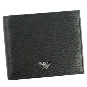 エンポリオアルマーニ 二つ折り財布 メンズ WALLET EMPORIO ARMANI BK