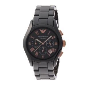 エンポリオアルマーニ 腕時計 メンズ EMPORIO ARMANI クロノグラフ ブラック