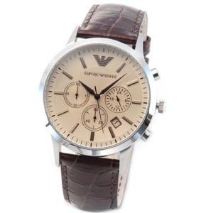 エンポリオアルマーニ 腕時計 メンズ EMPORIO ARMANI クロノグラフ チョコブラウン