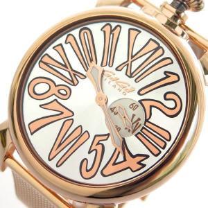 ガガミラノ 腕時計 メンズ スリム 46MM GaGa MILANO ピンクゴールド vol8