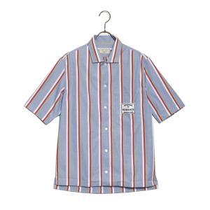 メゾンキツネ ボタンダウンシャツ メンズ MAISON KITSUNE ストライプ 半袖 38サイズ|vol8