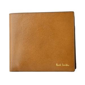0b0aa2c4054f ポールスミス 二つ折り財布 メンズ PaulSmith レザー ライトブラウン/マルチストライプ