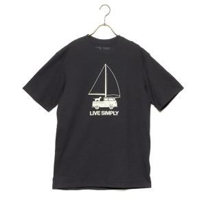 パタゴニア Tシャツ カットソー メンズ patagonia 半袖 クルーネック プリント Sサイズ