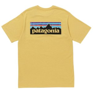 パタゴニア Tシャツ カットソー メンズ patagonia ロゴバックプリント Sサイズ イエロー vol8