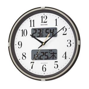 リズム 掛け時計 かけ時計 メンズ&レディース RHYTHM 電波 ホワイト/ブラウン|vol8