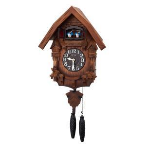 リズム 掛け時計 かけ時計 メンズ&レディース RHYTHM 濃茶ボカシ木地仕上|vol8