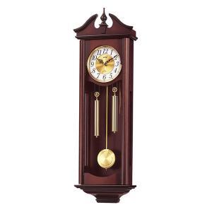 リズム 掛け時計 かけ時計 メンズ&レディース RHYTHM 濃茶木地仕上|vol8