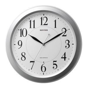 リズム 掛け時計 かけ時計 メンズ&レディース RHYTHM 電波 シルバー|vol8