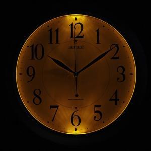 リズム 掛け時計 かけ時計 メンズ&レディース RHYTHM 電波 シルバー|vol8|02