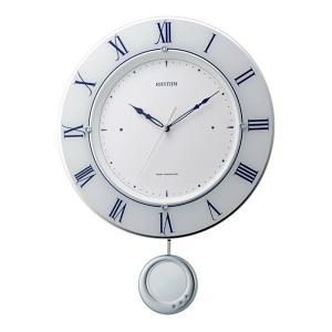 リズム 掛け時計 かけ時計 メンズ&レディース RHYTHM 電波 ホワイト|vol8