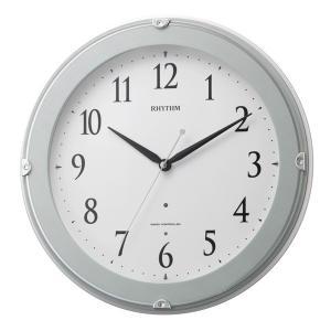 リズム 掛け時計 かけ時計 メンズ&レディース RHYTHM 電波 青半艶仕上|vol8