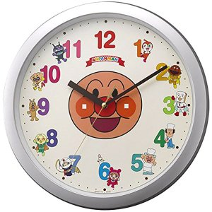 リズム 掛け時計 かけ時計 メンズ&レディース アンパンマン RHYTHM ホワイト|vol8