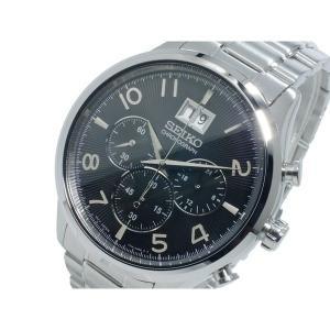 セイコー 腕時計 メンズ SEIKO クロノグラフ ブラック/シルバー|vol8