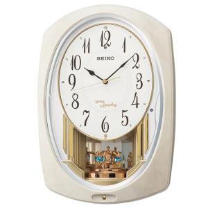 セイコー 掛け時計 かけ時計 メンズ&レディース アミューズ SEIKO 電波 ホワイト|vol8