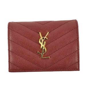 イブサンローラン 二つ折り財布 レディース YVES SAINT LAURENT RED vol8