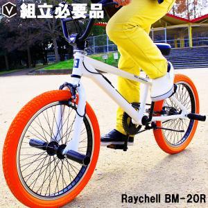 BMX 自転車 20インチ 街乗り ストリート ジャイロ機構ハンドル ペグ付き レイチェル Rayc...