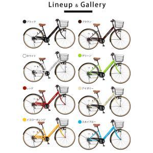 完成品 自転車 27インチ シティサイクル お...の詳細画像3
