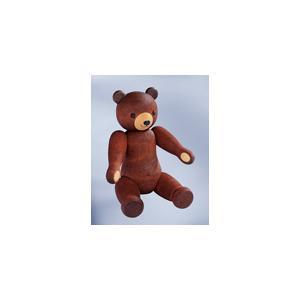 ドイツ製 木製テディベア人形 ブラウン色 (18cm) KWO社|volksmarkt