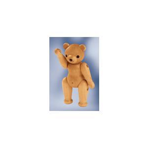 ドイツ製 木製テディベア人形 ナチュラル色 (14cm) KWO社|volksmarkt