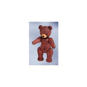 木製 テディー・ベア人形 ブラウン (7.5cm)|volksmarkt