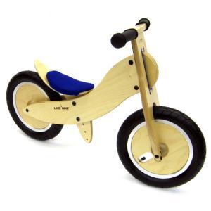 ドイツ製 木製 子供用自転車 ライクアバイク マウンテン mini (青のサドルカバー)|volksmarkt