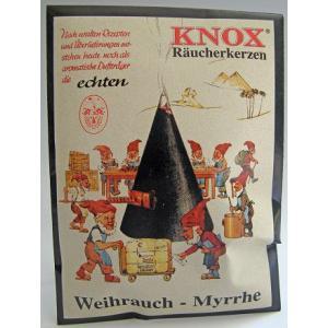 ドイツ KNOX製 お香 「乳香の香り」 KWOの煙だし人形に最適 ドイツ製|volksmarkt