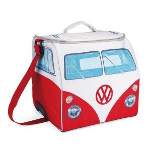 VW デザイン 折り畳み式 大きなソフトクーラーバッグ Volkswagen Large Soft Cooler Bag (レッド&ホワイト) volksmarkt