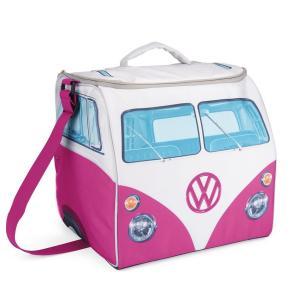 VW デザイン 折り畳み式 大きなソフトクーラーバッグ Volkswagen Large Soft Cooler Bag (ピンク&ホワイト) volksmarkt