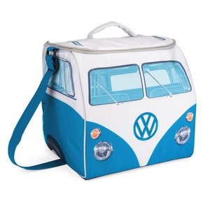 VW デザイン 折り畳み式 大きなソフトクーラーバッグ Volkswagen Large Soft Cooler Bag (ブルー&ホワイト) volksmarkt