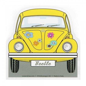 イタリア製 アイススクレーパー(霜取り)VW Beetle (イエロー) デザイン仕様 volksmarkt