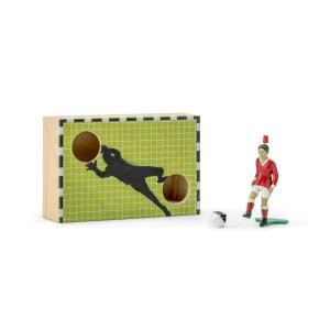 ティップキック 小さな木箱 キッカー付  サッカーゲーム テーブルゲーム ドイツのおもちゃ |volksmarkt