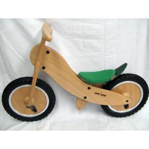 ドイツ製 木製 子供用自転車 ライクアバイク Forest mini (緑のサドルカバー)|volksmarkt