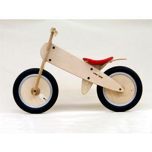 ドイツ製 木製 子供用自転車 ライクアバイク マウンテン(オレンジのサドルカバー)|volksmarkt