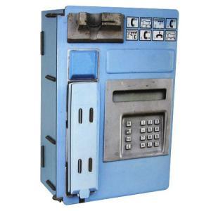 ヴェルクハウス 木製ケース 【ブルーの公衆電話型】|volksmarkt