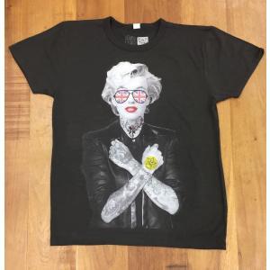 RARETE (ラルテ) マリリンモンロー イギリス サングラス タトゥー Tシャツ ブラック 星柄...