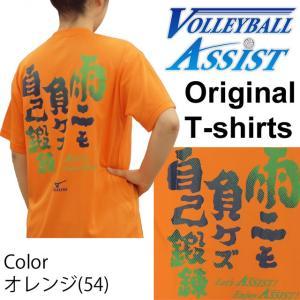 バレーボール ミズノTシャツ キャロット「雨ニモ負ケズ自己鍛錬!」VBA限定オリジナル 練習着 volleyballassist