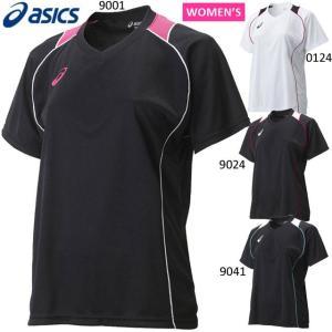 アシックスのウィメンズ半袖Tシャツ。 レディスサイズのバレーボールウェアです。  アシックスオリジナ...