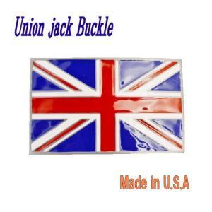ユニオンジャックのウエスタンバックル UKFLAG
