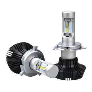 送料無料 H4 Hi/Lo LED ヘッドライト 車検対応 PHILIPS Lumileds LUXEON ZES CHIP 採用 8000Lm 6500k ファンレス 一体型 角度調整機能付き DDM|vourvoir2