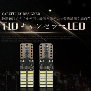送料無料- T10 W5W CANBUSキャンセラー内蔵LED DC12V 4014SMD 24連 無極性ポジション ナンバー灯両面発光 10個セット DDM|vourvoir2