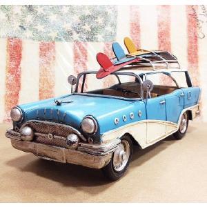 ブリキ ハンドメイド ビンテージカー サーフ ワゴン Lサイズ アメリカン アメリカ 雑貨 世田谷ベース アメ車 ブリキ カー グッズ